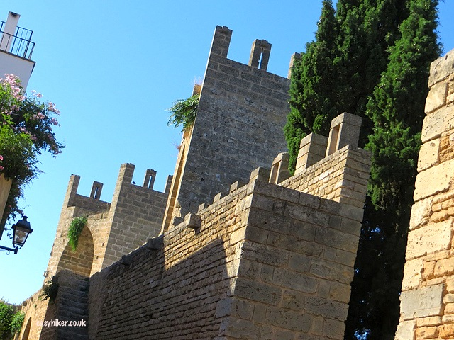 """the walls surrounding Alcudia - market day in Alcudia"""