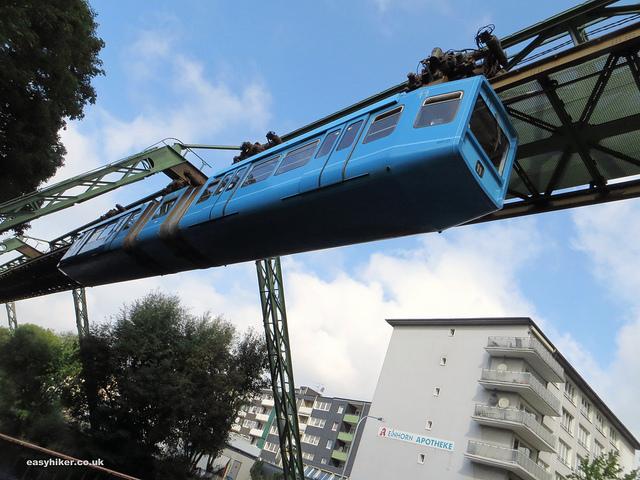 """Wuppertal's Schewebebahn or hanging trains"""