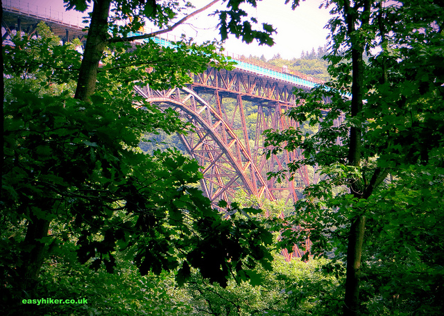 """highest railway bridge along Schaberg trail to a medieval castle called Castle"""