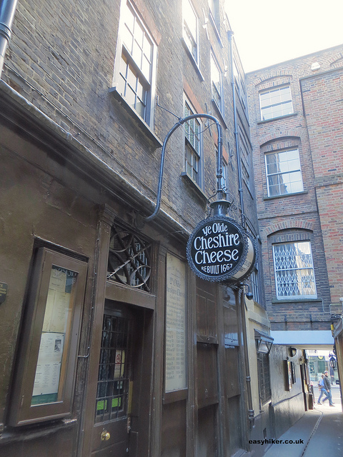 """Ye Olde Cheshire Cheese Tavern where Charles Dickens supposedly often went"""