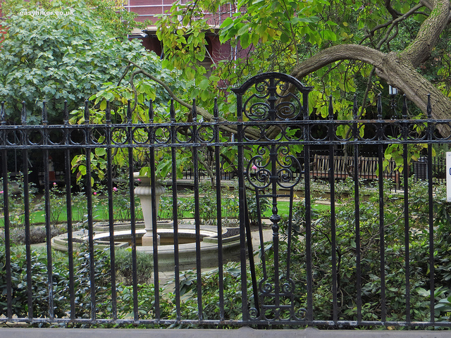 """Staple Inn Gardens as seen while walking London with Charles Dickens"""