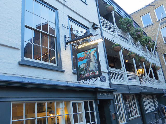 """The George inn seen as we continue walking London with Charles Dickens"""