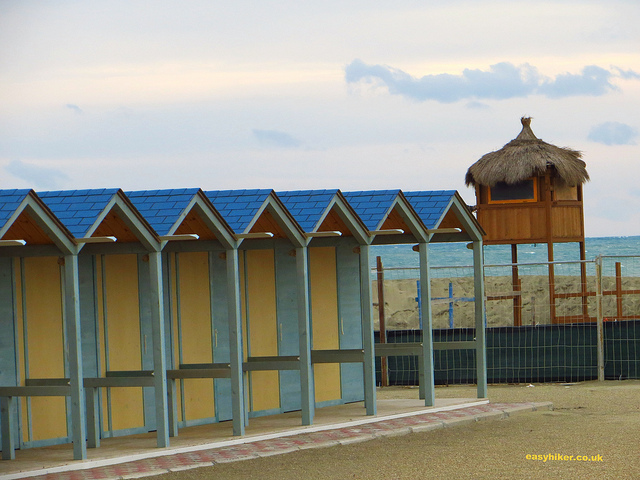 """The end of the walk from Ostia Antica to Lido di Ostia - the Lido beach"""