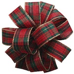 Holiday Plaid Ribbon