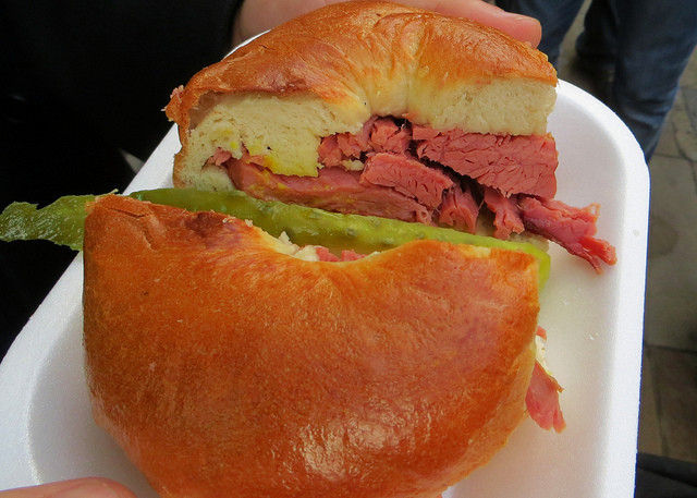 """salted beef bagel - English food on the East End menu"""