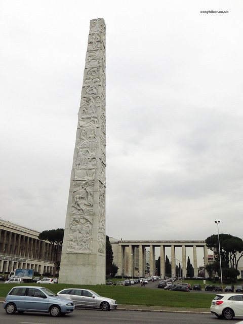 """Piazza Guglielmo Marconi - example of fascist architecture in Rome"""