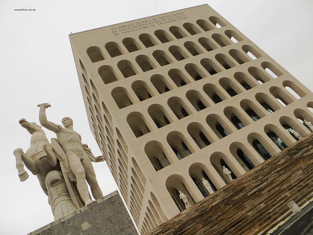 """""""Palazzo della Civiltà del Lavoro - example of Fascist architecture in Rome"""""""