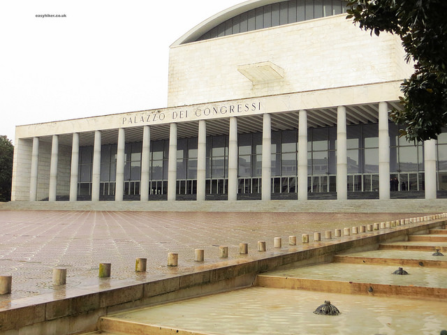 """Palazzo dei Congressi - example of Fascist architecture in Rome"""