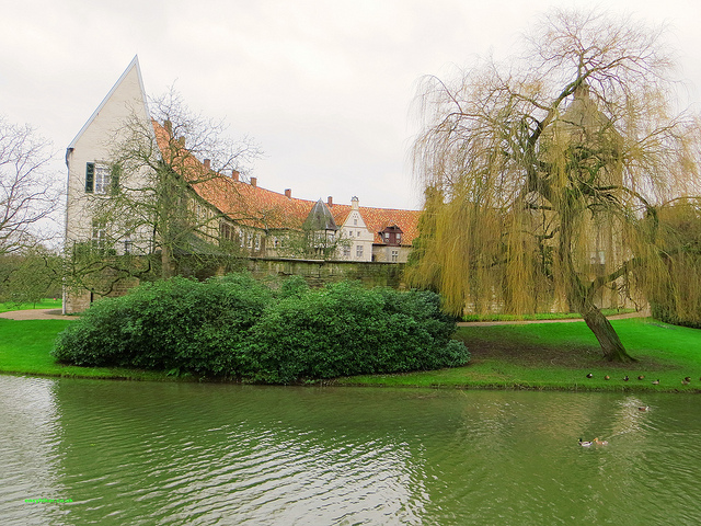 """The castle in Burg Steinfurt, home of the Counts of Bentheim and Steinfurt"""