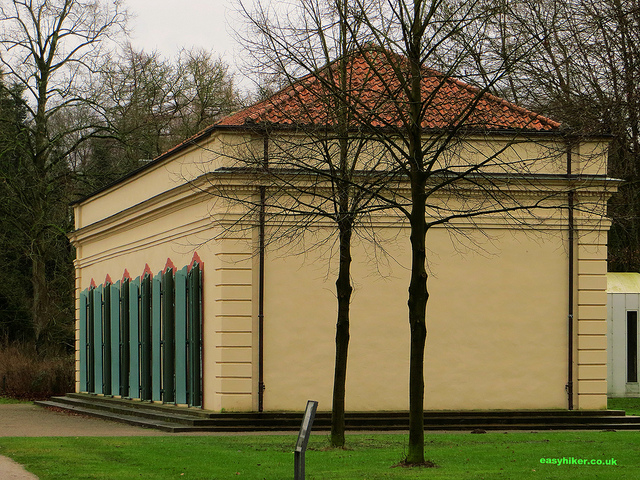 """Concert hall of Bagno in Burg Steinfurt French rococo garden in Germany"""