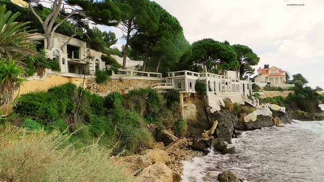 """abandoned villa along the Cap d'Ail trail in the French Riviera"""