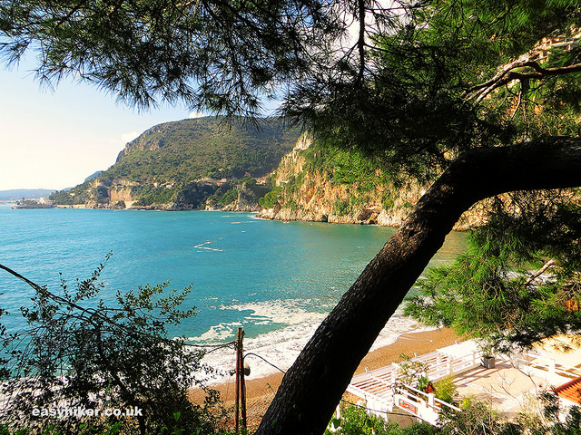 """Mala Beach in Cap d'Ail along one of the French Riviera winter walks"""