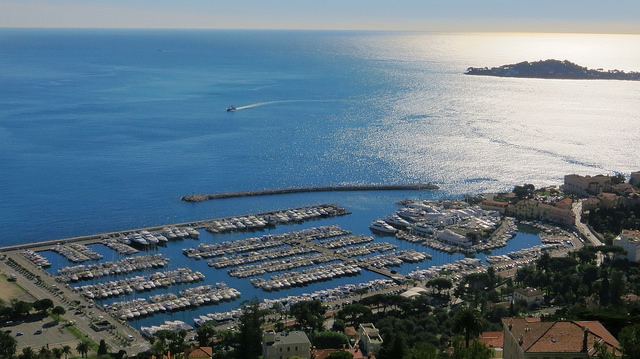 """Yacht harbour of Beaulieu sur Mer on the ultimate view of the French Riviera hike"""