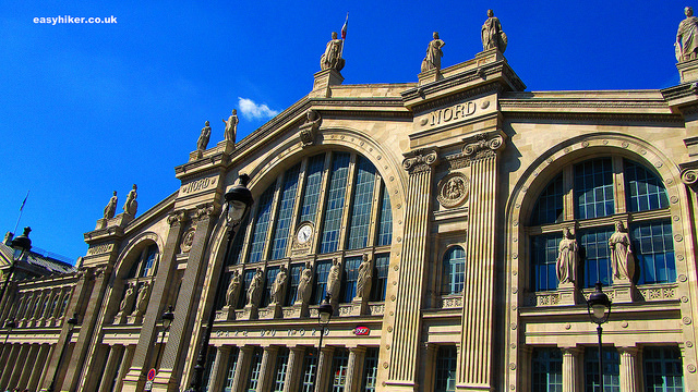 """""""discreet charm of train stations like the Gare du Nord Paris France"""""""