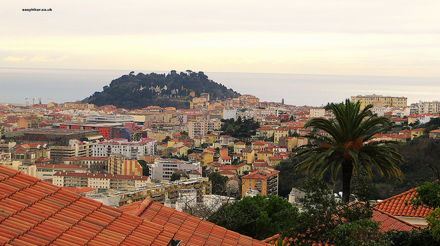 """Nice sprawl in front of Mont Boron seen from Chateau de Nice"""