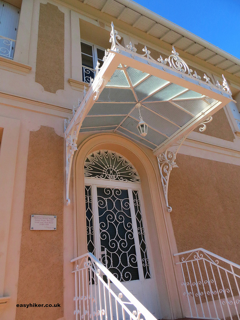 """front door of Villa in the French Riviera where W B Yeats died"""