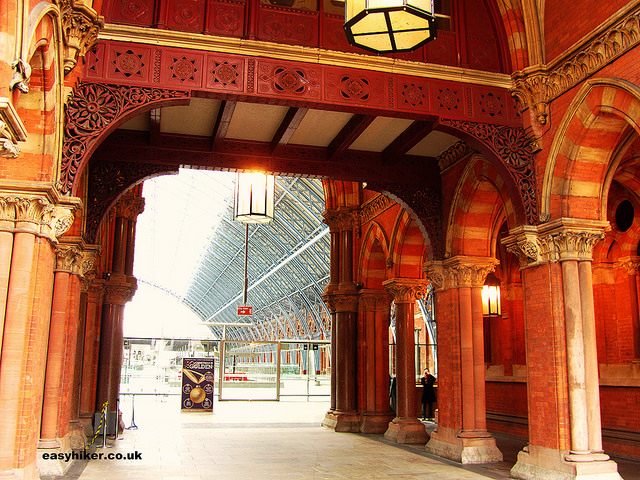 """""""discreet charm of train stations like the interior of the St Pancras in London"""""""
