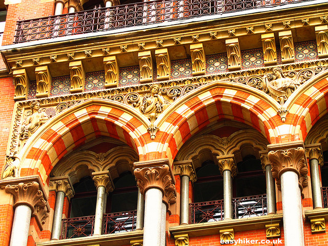 """""""part of the facade of St Pancras train station London"""""""