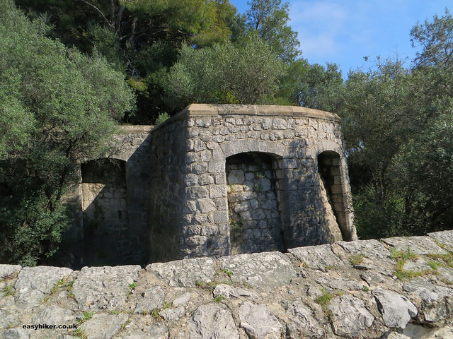 """Remains of a fortress in Nice from a French Riviera walk on Mont Boron"""