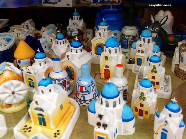 """souvenir figurines of the churches of Ios"""