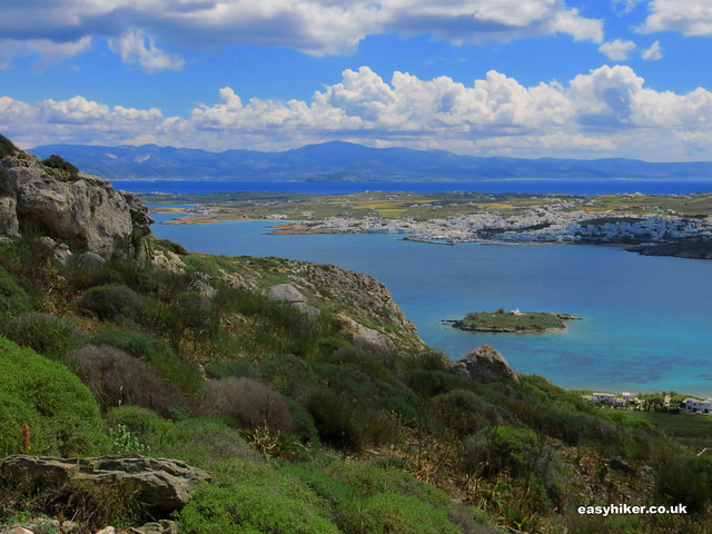 """View from the Vigla mountain in Paros"""
