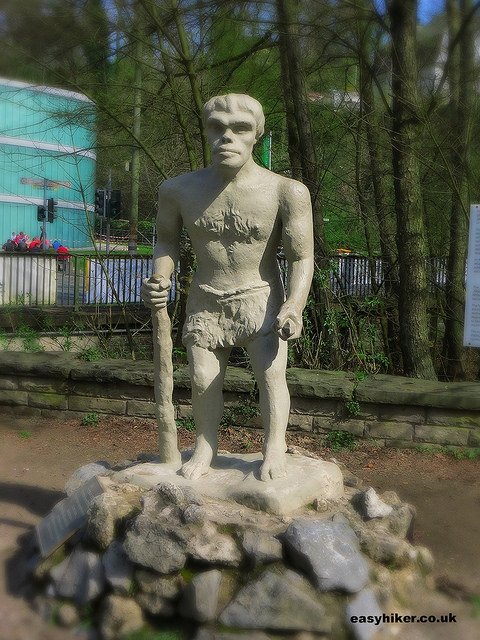 """Statue reproduction of how the Neanderthal man looked like"""