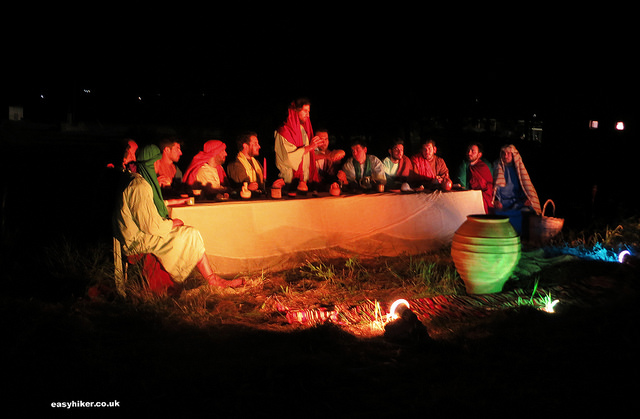 """the Last Supper as one of the 17 Byzantine Tableaux Vivants presented on Good Friday in Paros"""