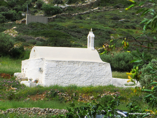 """a church in Agia Theodoti - one of the sights of Ios"""