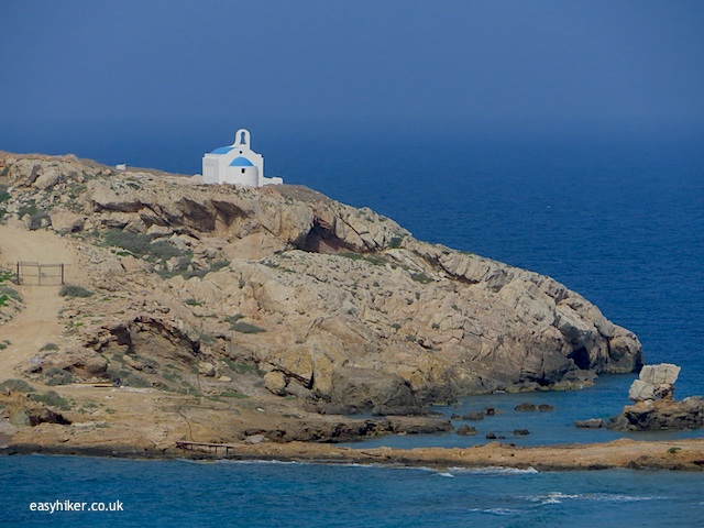 """one of the many churches of Ios on a remote island"""