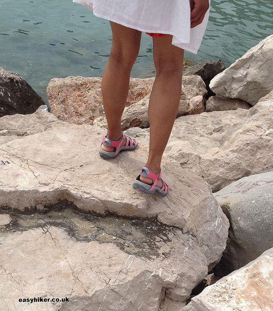 """Mrs. Easy Hiker's new footwear - Teva Hurricane sandals"""