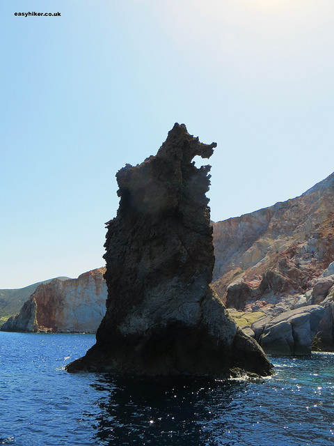 ... an angry bear seen on the other side - geological varieties of Milos""