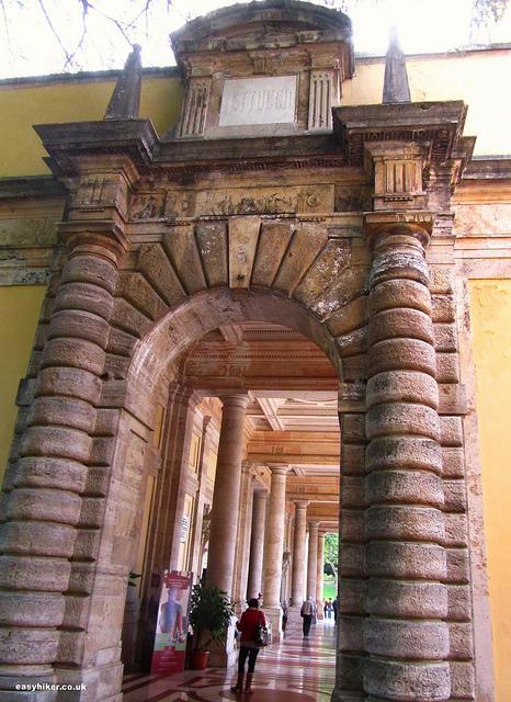 """architecture in Montecatini Terme - 18th century gate"""
