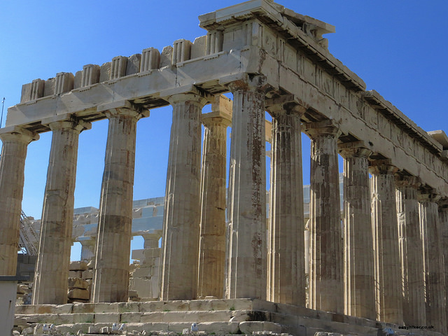 """Parthenon in the Acropolis in Athens - the wonder of the ancient world"""