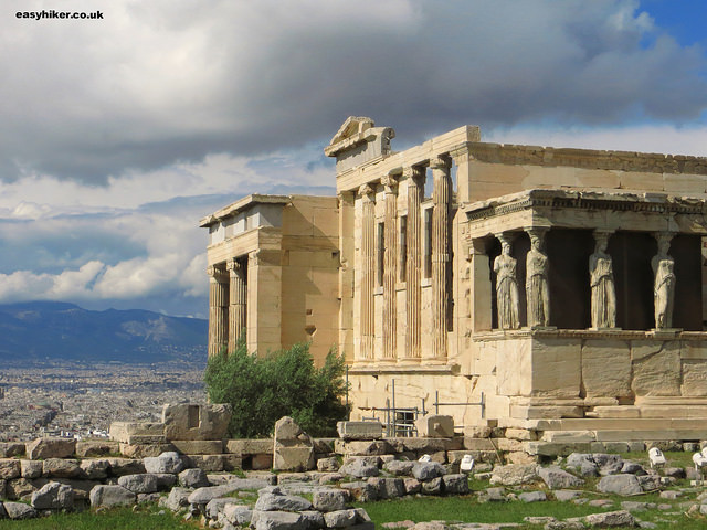 """the Erechtheion in the Acropolis in Athens"""