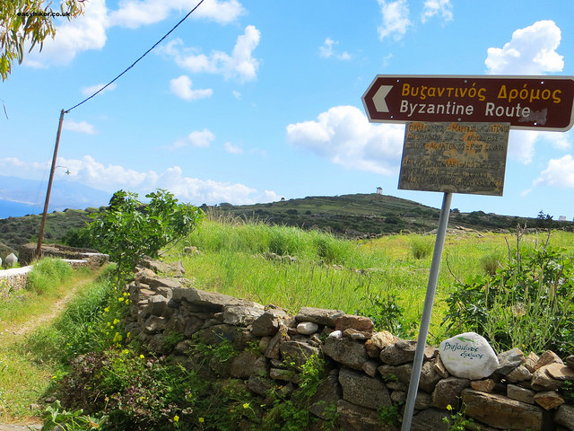 """""""Finger posts indicating direction of the Byzantine trail of Paros"""""""