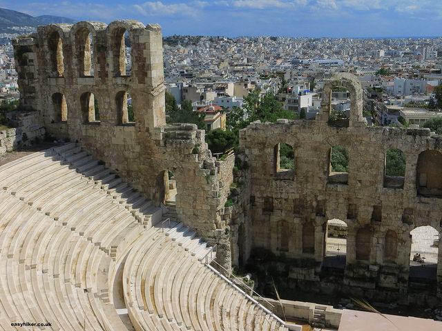 """Odeon of Herodes in the Acropolis in Athens"""