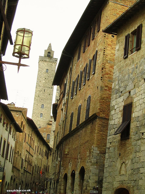A tower in San Gimignano, New York of the Middle Ages""