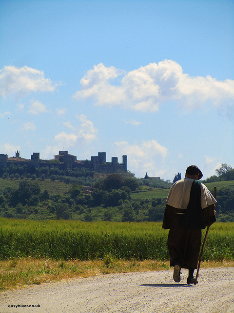 """Walking in the Footsteps of Ancient Pilgrims in Monteriggioni"""