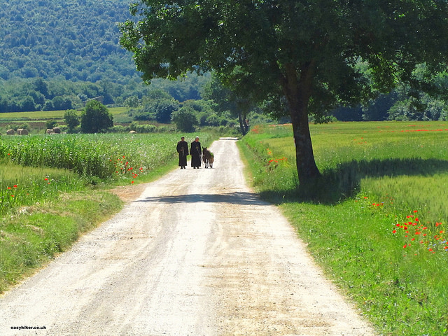"""Friars walking in the footsteps of ancient pilgrims"""