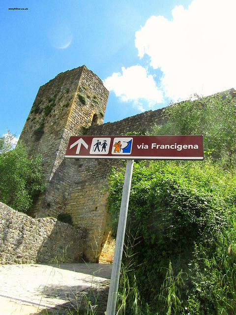 The castle, destination of ancient pilgrims on the Via Francigena""