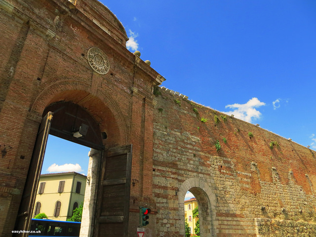"""Porta Camollia of the Celestial City of the Via Francigena, Siena"""