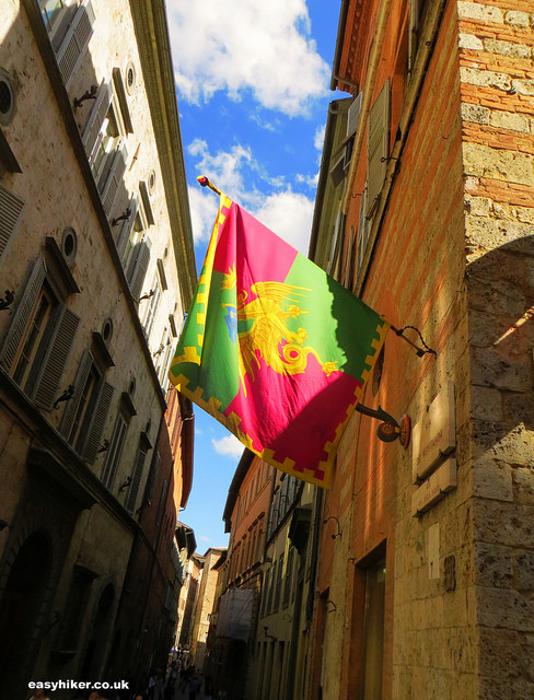 """St Catherine's flag in Siena"""