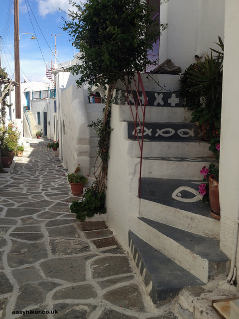 """a street in Parikia in Paros"""