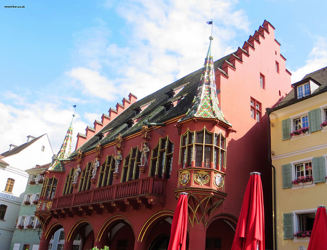 """Historisches Kaufhaus, the medieval Customs House in Freiburg Germany"""