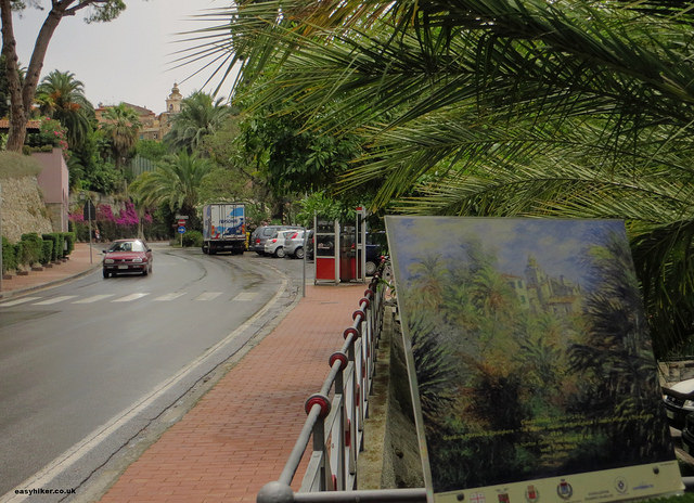"""the motif of one of Monet's painting in Bordighera"""
