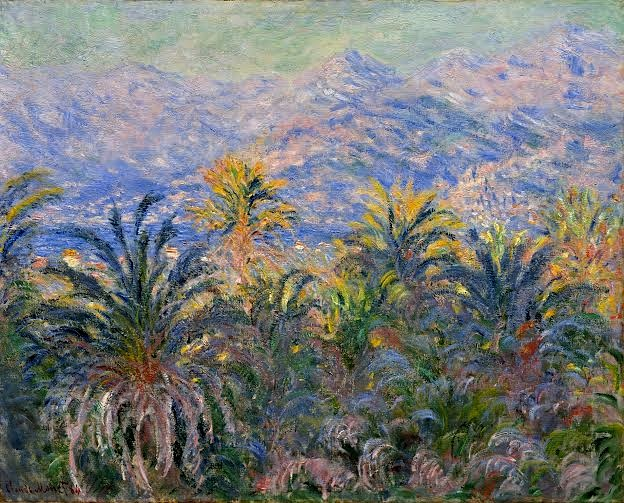 """Monet paining the palm trees of Bordighera"""