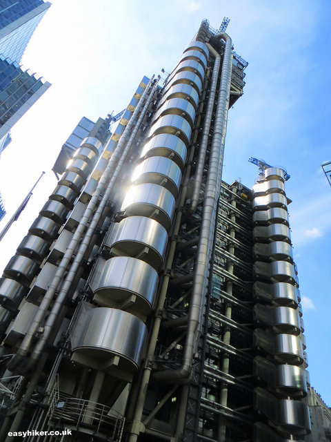 """Lloyds Bldg - one example of modernist architecture in London"""