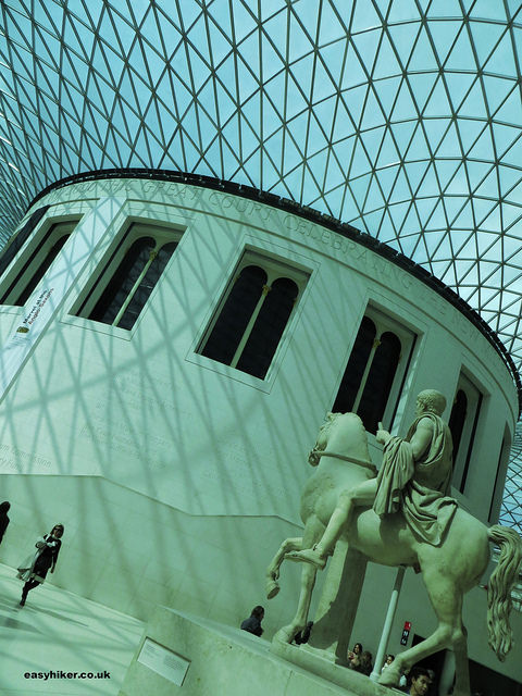 """inside the British Museum, example of modernist architecture"""