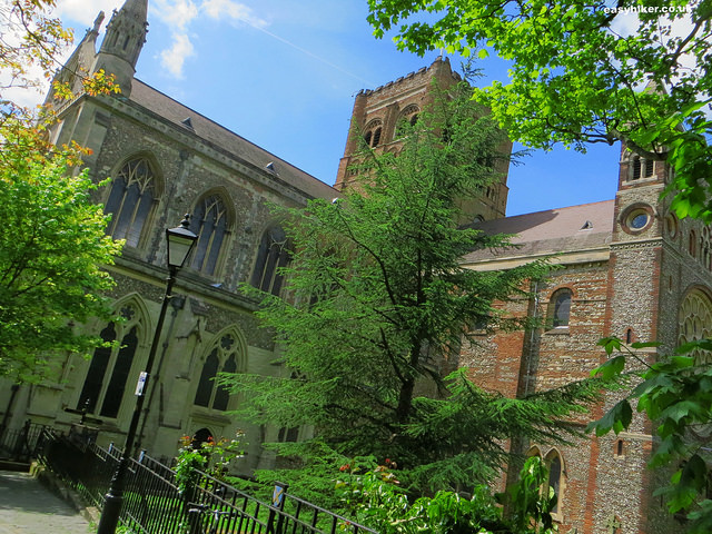 """St Albans cathedral - different layers of British history"""