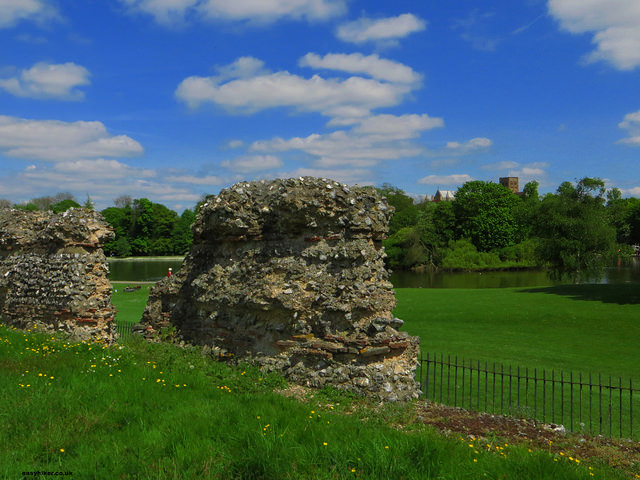 """Roman ruins in St Albans - different layers of British history in evidence"""